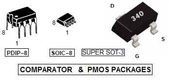comparator and pmos packages