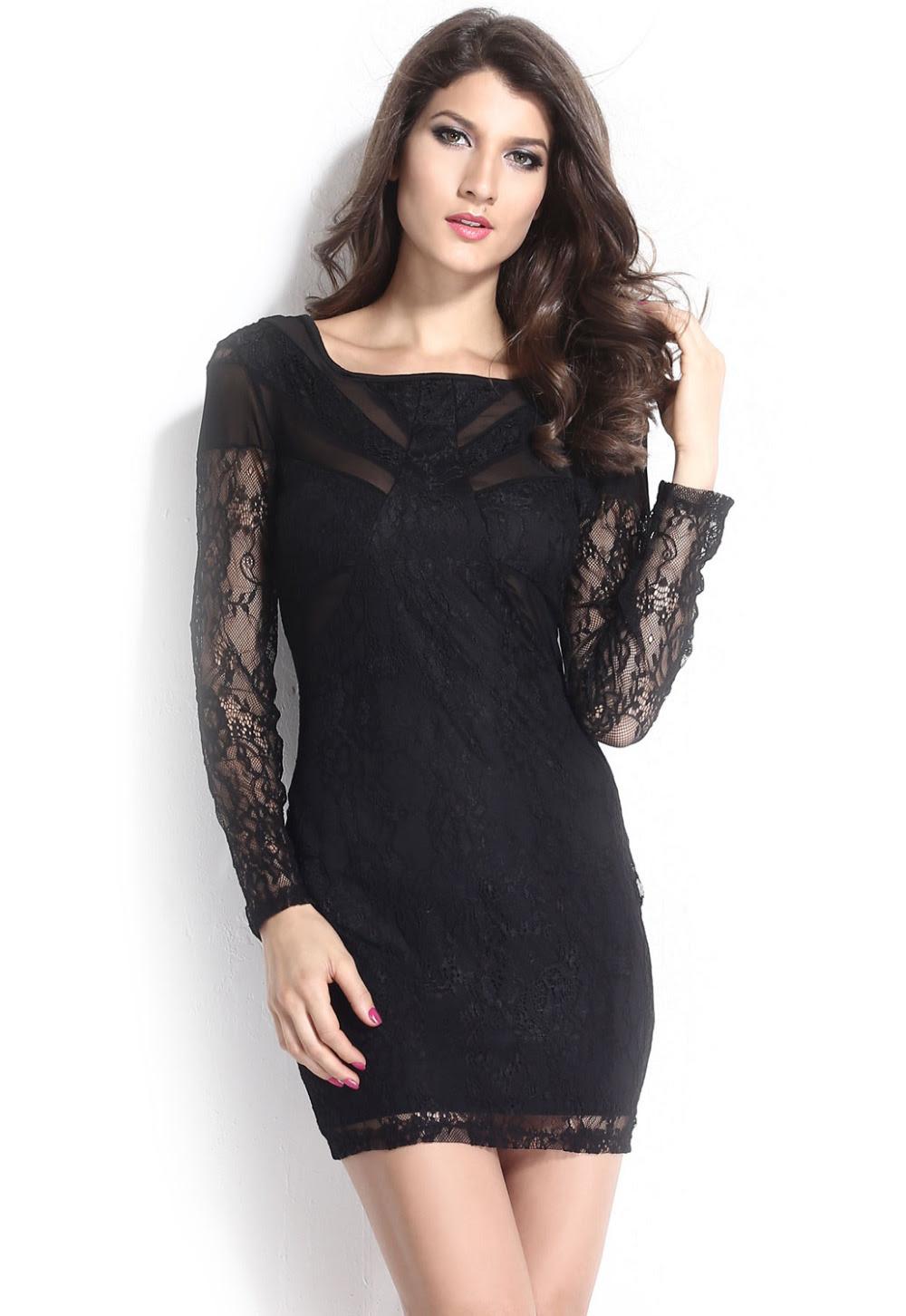Mesh dresses bodycon long sleeve patchwork sew