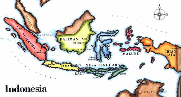 Menggambar Peta Indonesia Menggambar Dan Mewarnai
