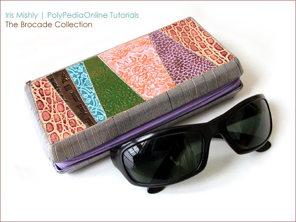 Polymer Clay Brocade Collection Glasses Purses
