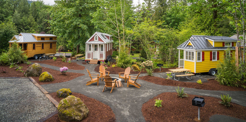 Mt. Hood Tiny House Village Tour - Oregon Tiny House Rentals