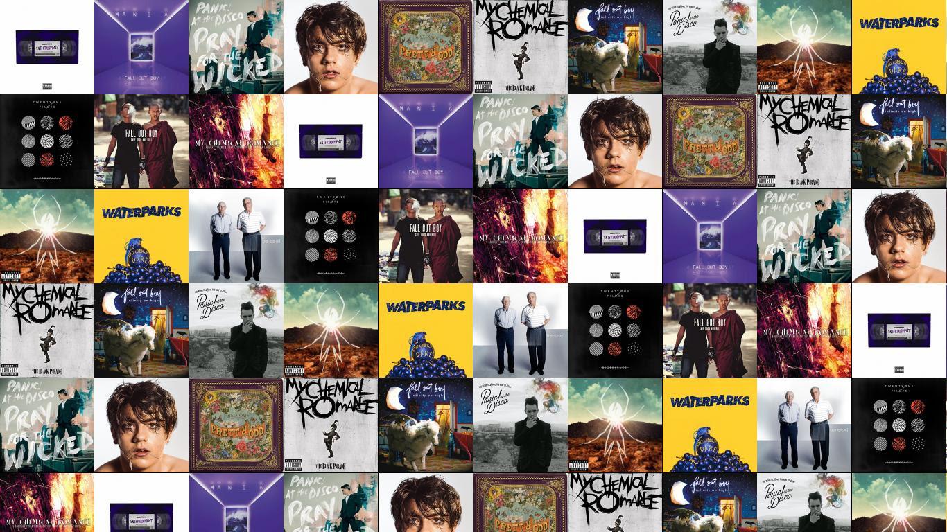 Fall Out Boy Tiled Desktop Wallpaper