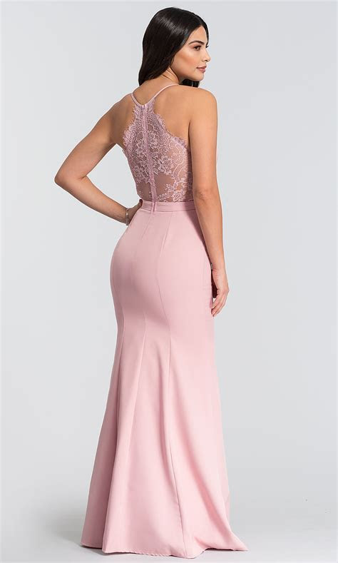 Mermaid Long Wedding Guest Dress with Lace Back