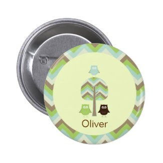 Owl Birthday Button