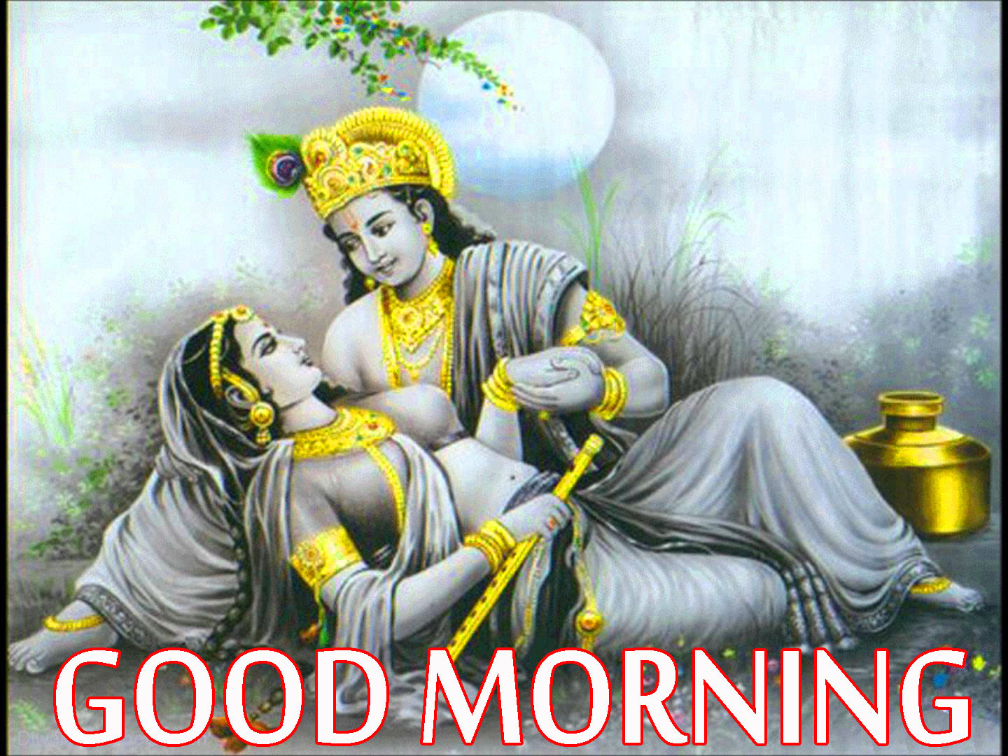 99 Radha Krishna Good Morning Images Wallpaper Photo Pics Hd
