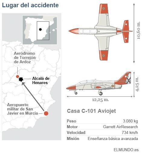 Se estrella un avión del Ejército en Madrid.
