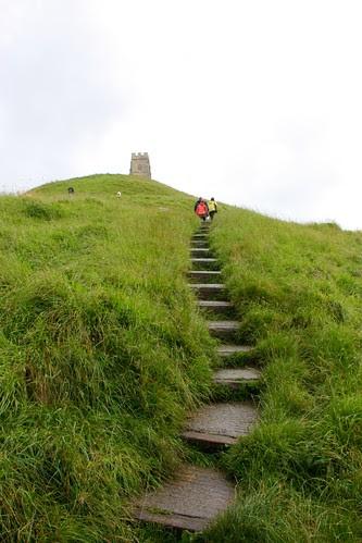 Climbing Glastonbury Tor