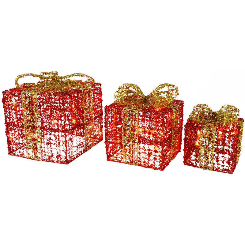 comproxy - Decorative Christmas Boxes With Lights