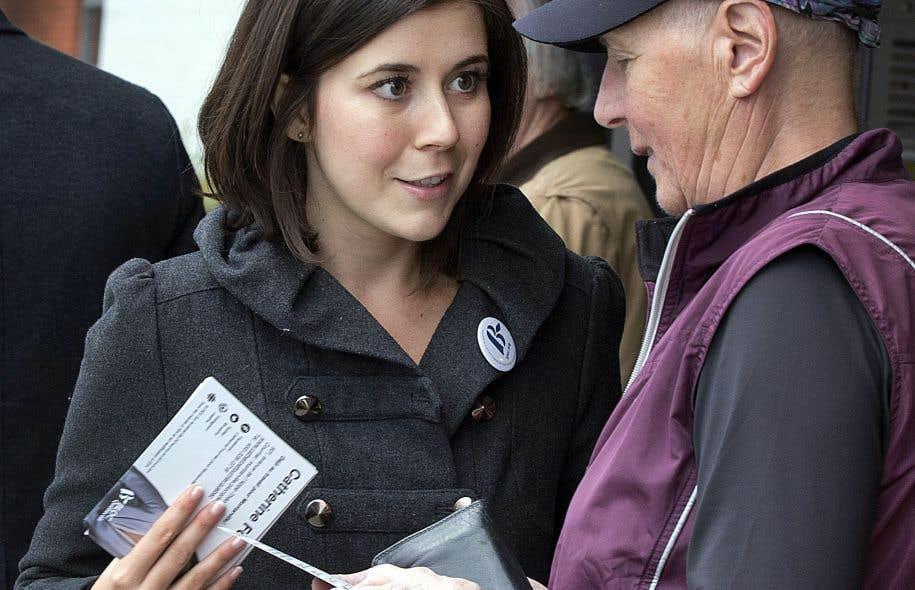 Catherine Fournier, 23ans, fait partie de la jeune garde bloquiste. Le parti mise sur elle pour reprendre son ancien château fort, emporté par la vague orange en 2011.