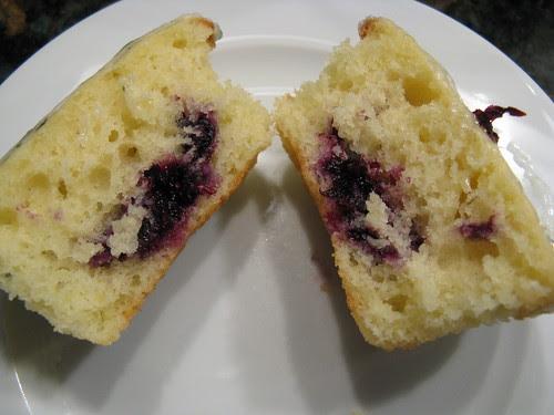 Lemon Cupcake with Blueberry Basil Filling & Basil Icing