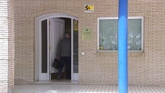 L'entrada del despatx del notari