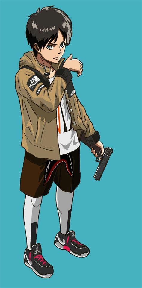 shingeki  kyojin eren  tnf sauce anime art anime