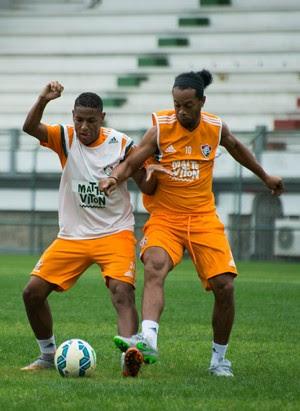 ronaldinho gaúcho robert fluminense (Foto: Bruno Haddad / Fluminense FC)