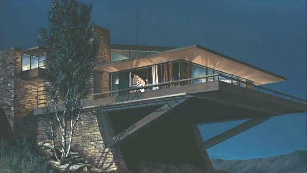 Modernista Vandamm House em North by Northwest filme