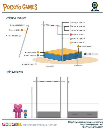 Pocoyo Games 2012 Pole vaulting set