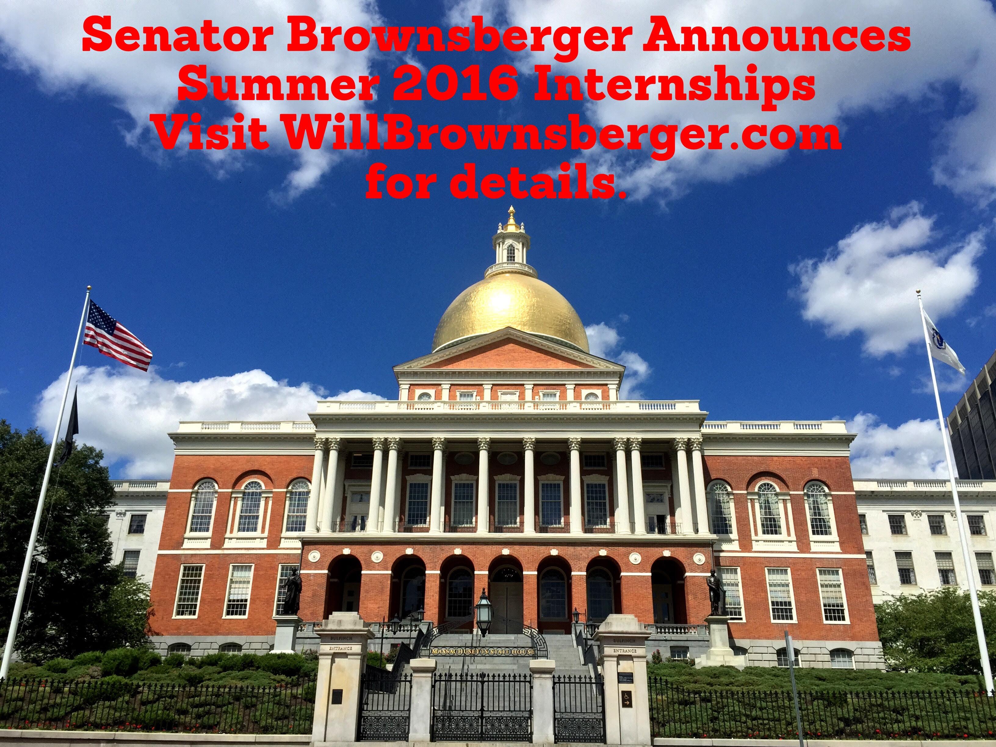 Senator Brownsberger Announces Summer 2016 Internships ...