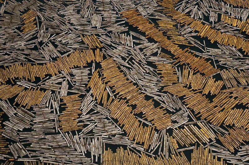 Harvesting of lumber in Port-Gentil, Ogooue-Maritime Province, Gabon