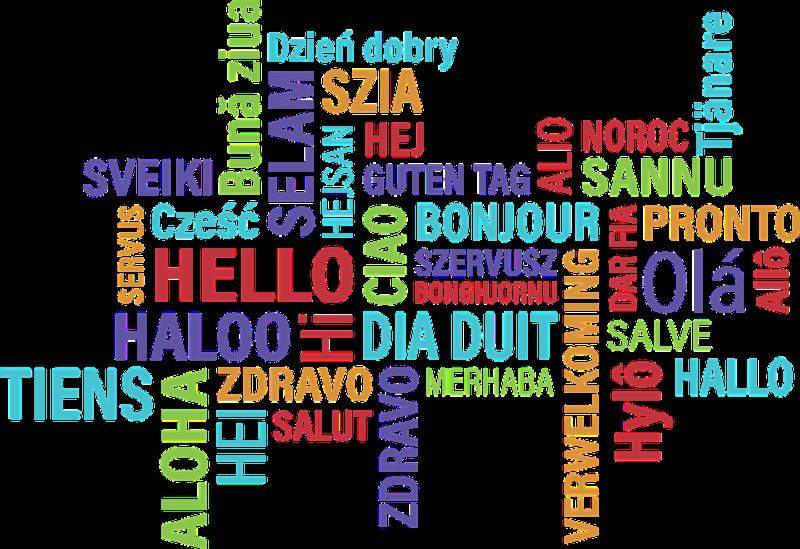 Resultado de imagem para salut en plusieurs langues