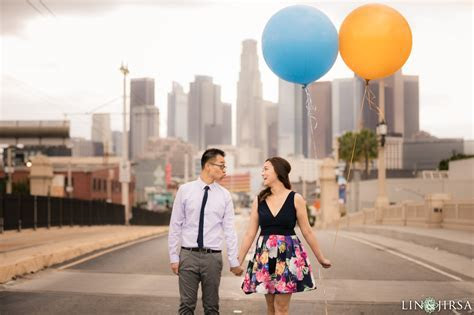 Downtown Los Angeles Engagement   Kitty & James