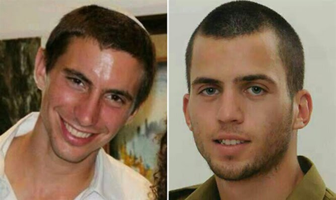 Hadar Goldin (L) e Oron Shaul (R)