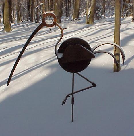 Bird - Abstract sculptures and artwork as home decor and garden decor