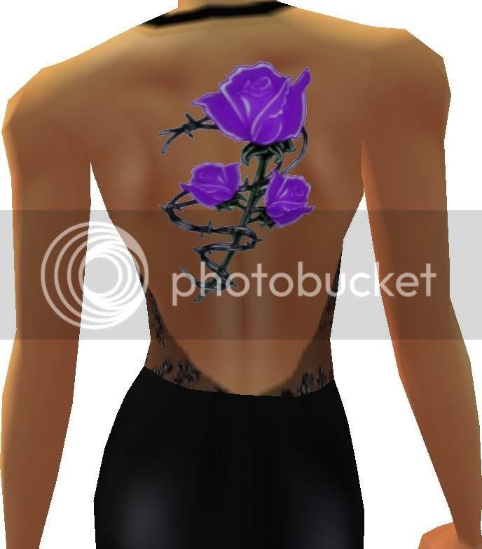 purple+rose+back+tattoo.