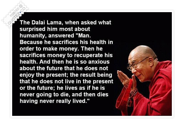 Man Sacrifices His Health In Order To Make Money Wisdom Quote