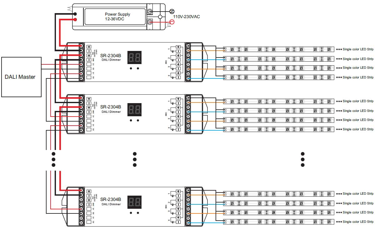 Schematic Dali Lighting Control Wiring Diagram