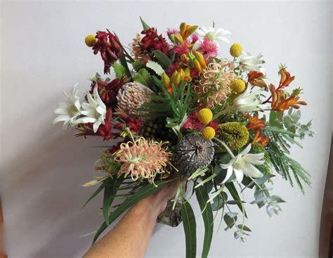 #Australian #native flowers, wedding bouquet, hand tied
