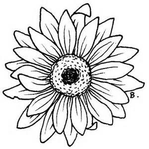 Line Art Sunflower Tattoo Designs Tattoo Designs Ideas