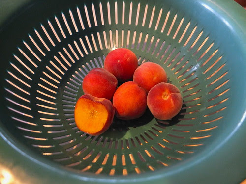 homegrown peaches