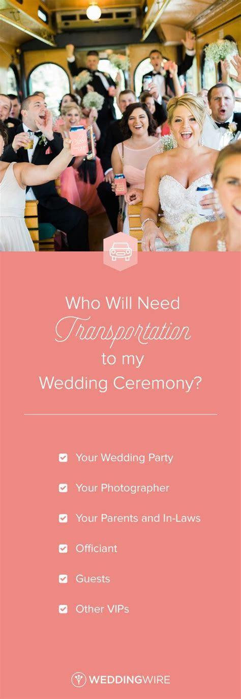 Who Will Need Transportation to My Wedding Ceremony