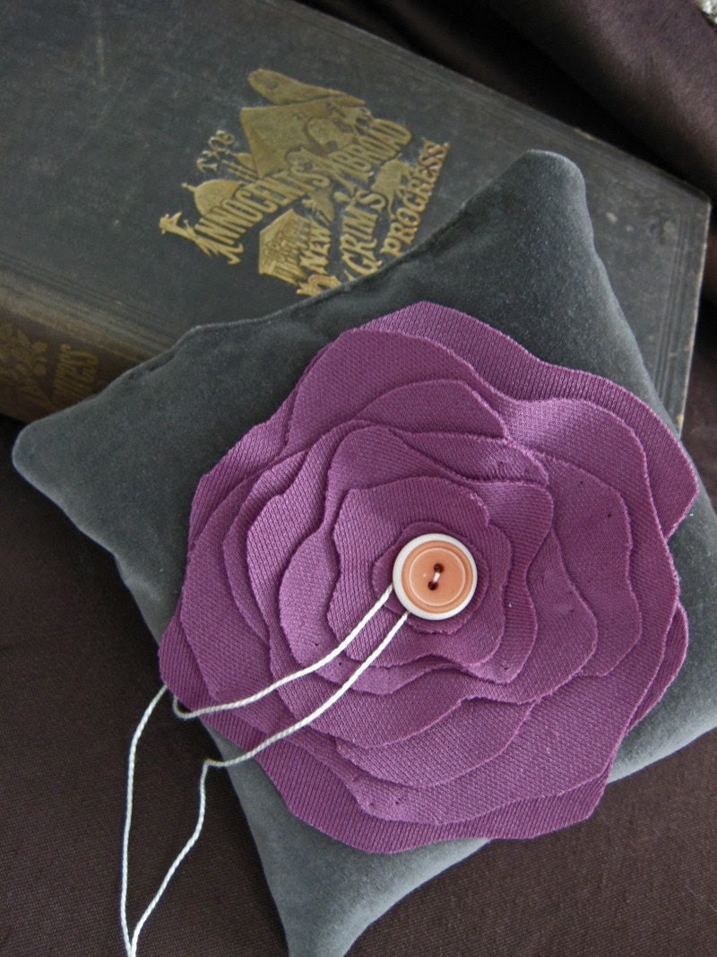 Purple Bloom Ring Pillow
