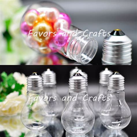 fillable plastic light bulbs clear wedding favors baby