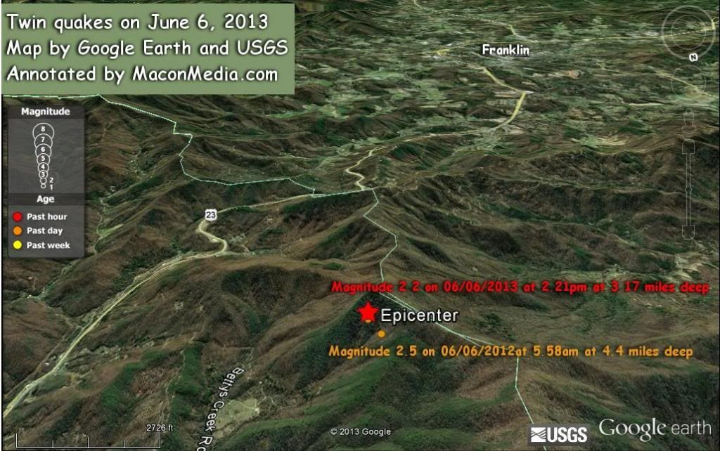 June 6th 2013 Quake Epicenters