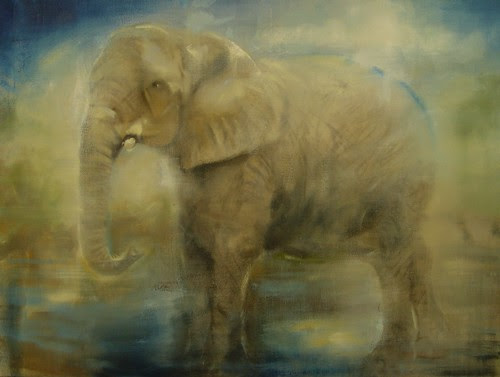 "Calvino's Elephant 30""x40"" oil on linen 2011"
