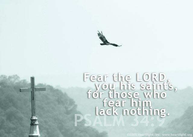 Inspirational illustration of Psalm 34:9