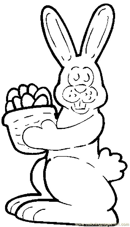 Chocolate Bunny 3 Coloring Page - Free Holidays Coloring ...