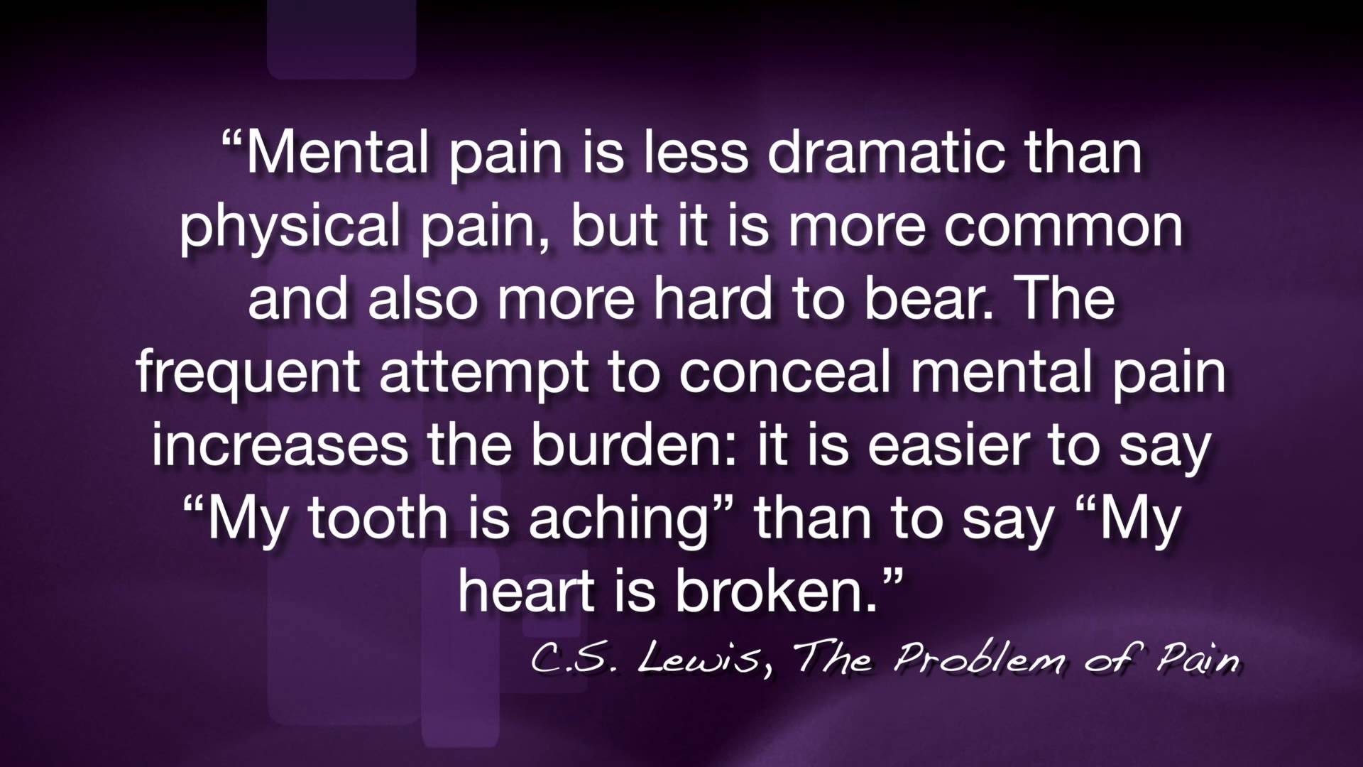 Best Of Cs Lewis Problem Of Pain Quotes Soaknowledge