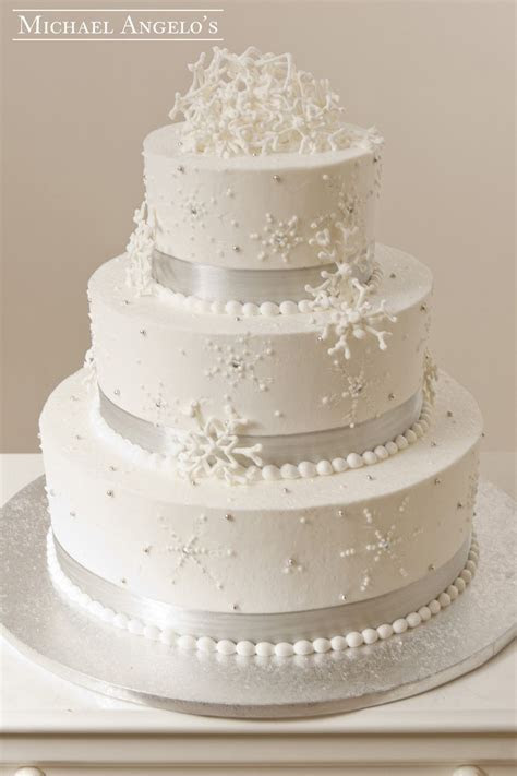Wintery Wedding #23Specialty This cake is perfect for the