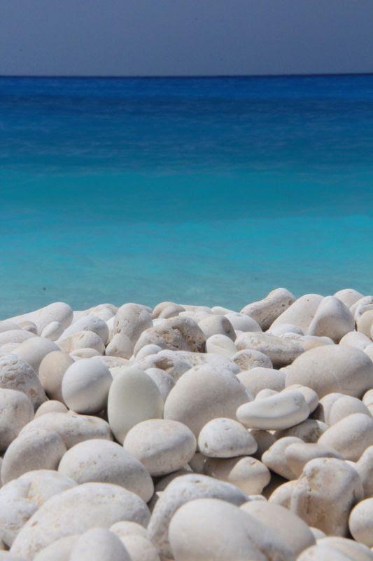 White and all shades of blue... Myrtos beach, Kefalonia