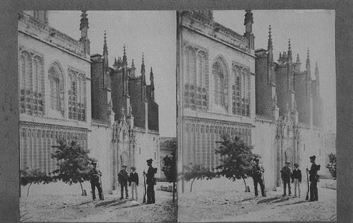 Fotografía estereoscópica del Monasterio de San Juan de Los Reyes en Toledo hacia 1934. Donación del Marqués de la Vega Inclán a la Hispanic Society of America