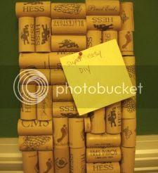 Wine Corks into the Bulletin Board