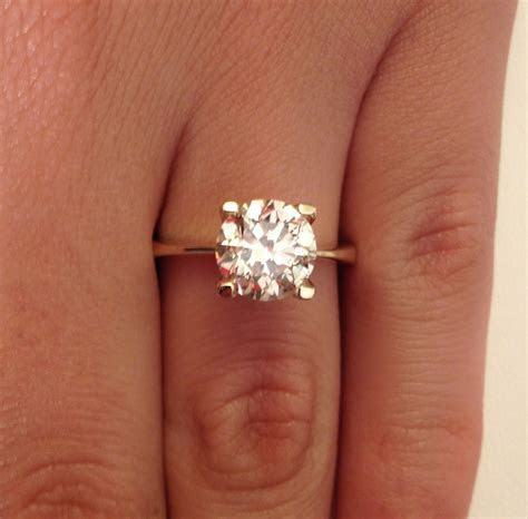 2.00 CT ROUND CUT DIAMOND SOLITAIRE ENGAGEMENT RING 14K