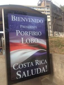 Vallas por todo San José le dan la bienvenida a presidentes del SICA. CRH
