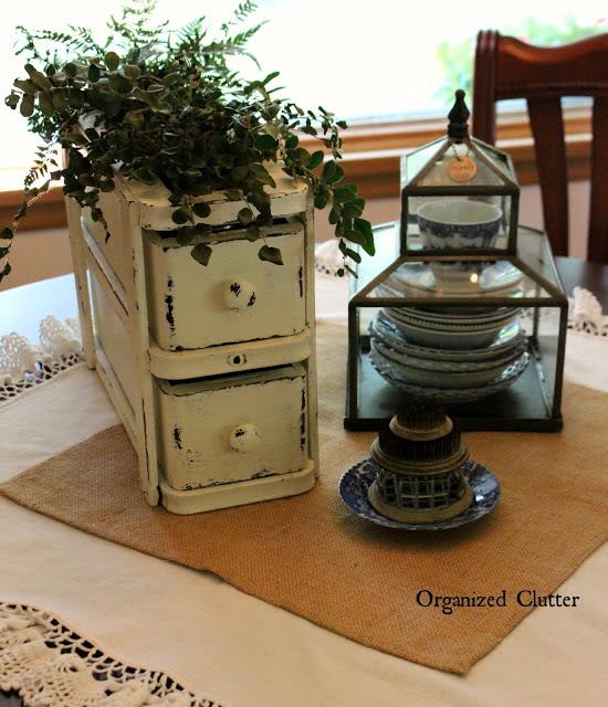 repurposed sewing drawers