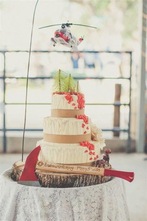 Best 25  Firefighter wedding cakes ideas on Pinterest
