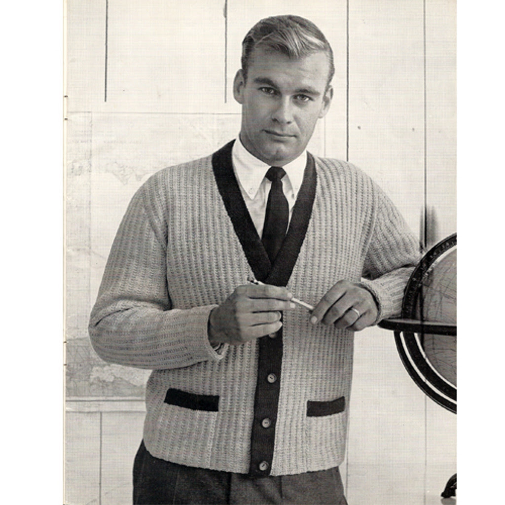 Columbia Minerva Knitted Mans Cardigan Pattern