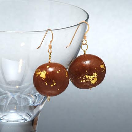 Edible Jewelry – Chocolate Earrings   wendy mahr jewelry