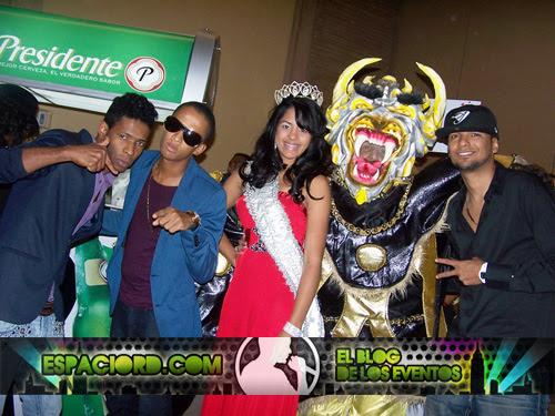 Bopero, Confusio, Reina, Diablo Cojuelo y Joa en Rueda de Prensa Carnaval de Bonao / Foto: Hanel Peña